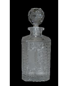 Carafe à whisky en cristal...