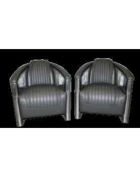 Paire de fauteuils clubs...