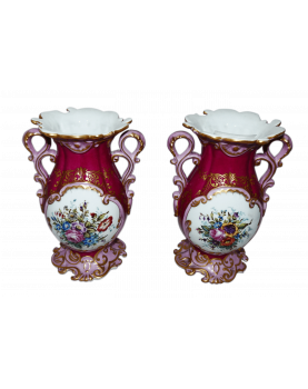 Pair of Painted Porcelain...