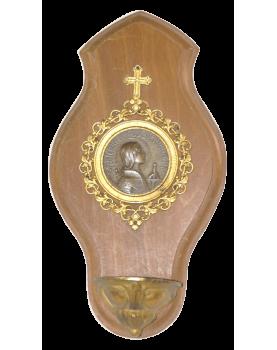 Bénitier Laiton Jeanne d'Arc