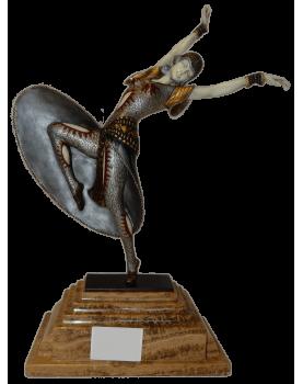 Composition Femme en bronze...